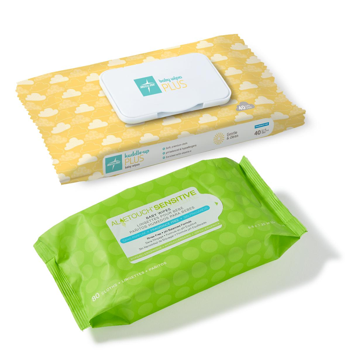 Hypoallergenic Fragrance-Free Baby Wipes, WIPE, BABY, FRAGRANCE FREE, 40WIPES/PK PF91096