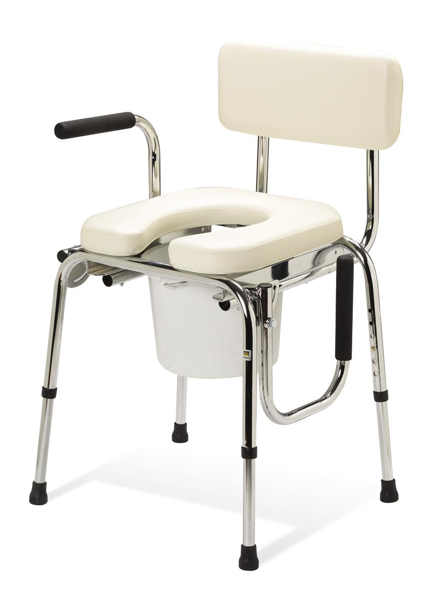 Drop Arm Commodes, COMMODE,DROP ARM,PADDED PF04643