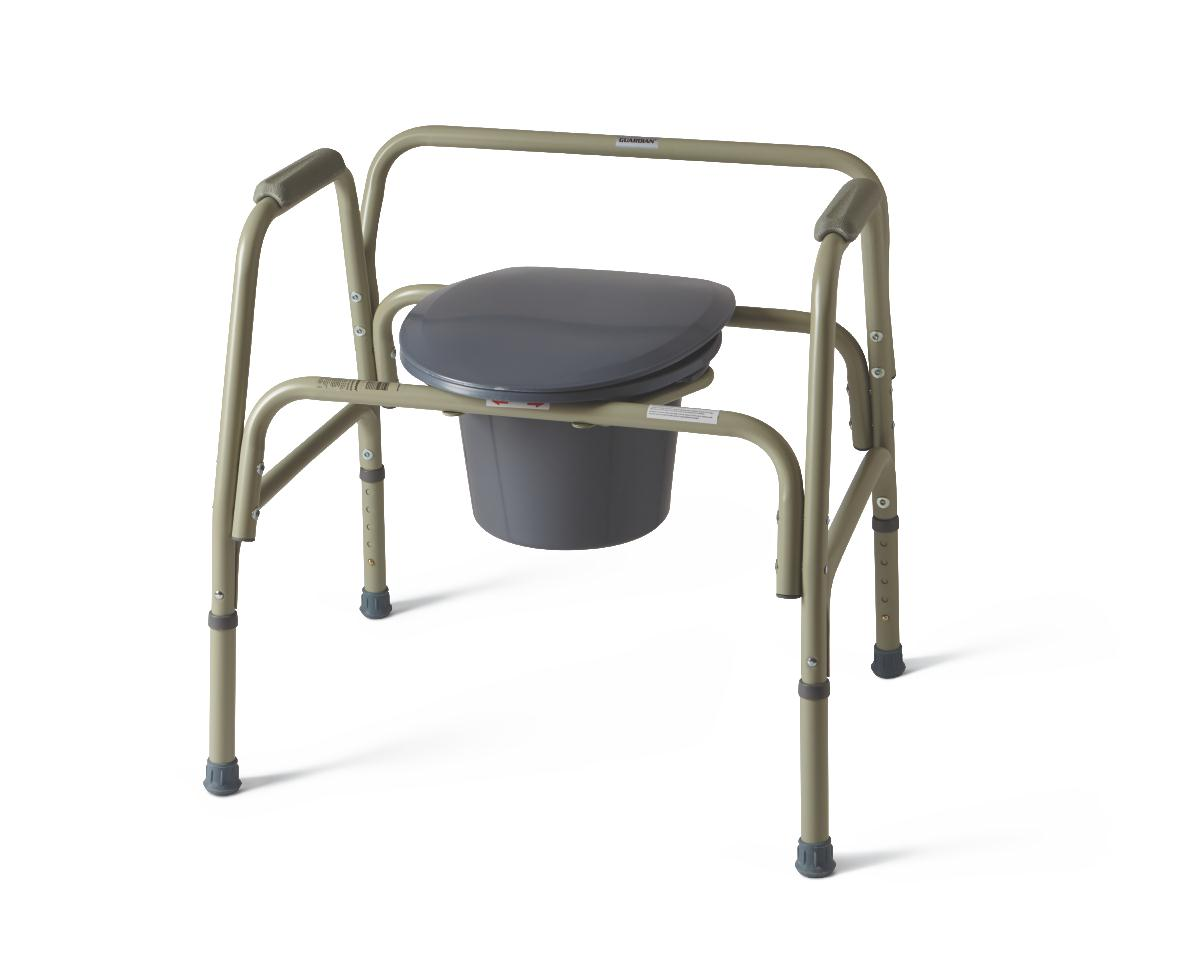 Steel Bariatric Commode, COMMODE,EXTRA WIDE,24IN WIDE,650 LB CAP PF04648
