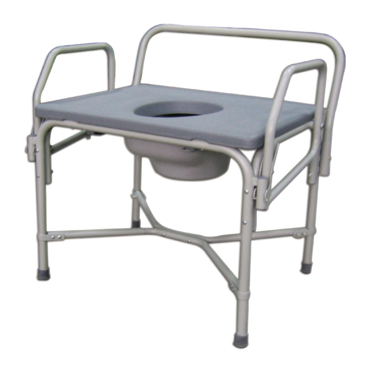 Bariatric Drop-Arm Commode, COMMODE,DROP ARM,850LBS CAP PF04649