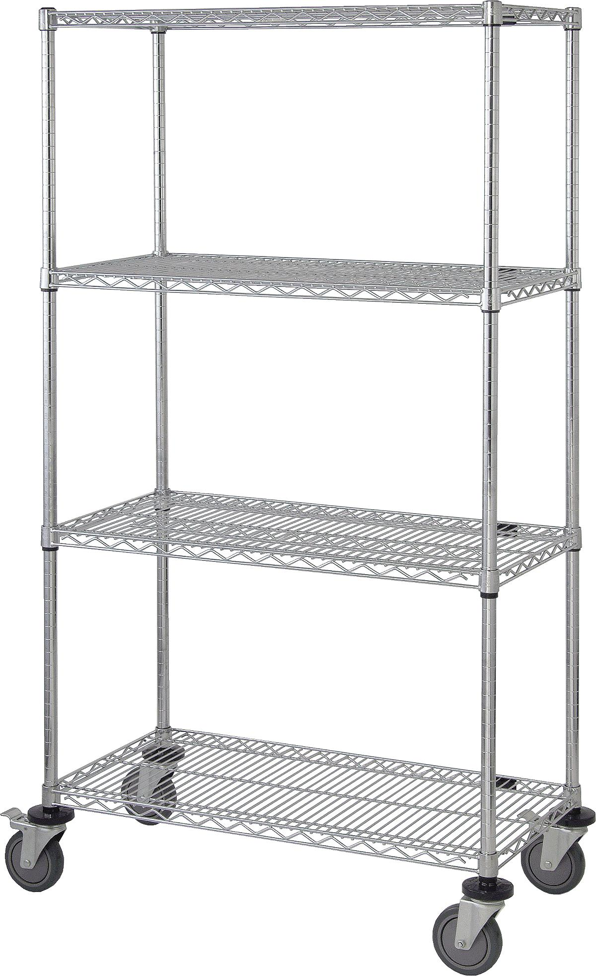Mobile Shelf Carts with Four Wire Shelves | Medline Industries, Inc.