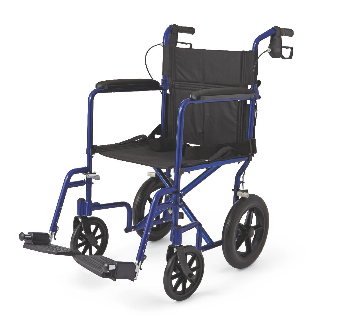 aluminum transport chair with 12 wheels medline industries inc