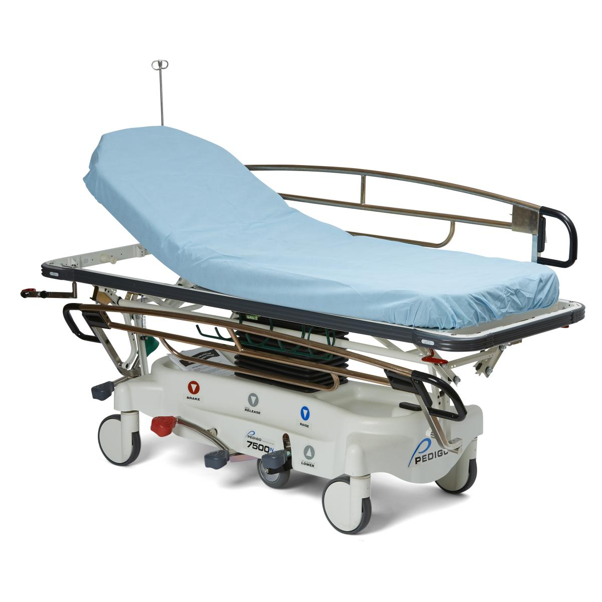 Disposable Polypropylene Fitted Stretcher Sheets,Blue
