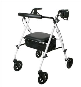 Luxe Rollator (White)