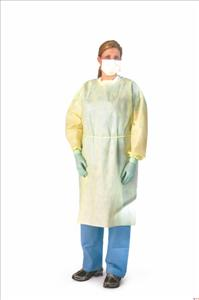 Yellow Isolation Gown Medium Weight (Case of 100)
